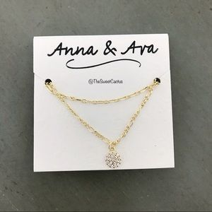 Anna & Ava Gold Pave Charm Necklace